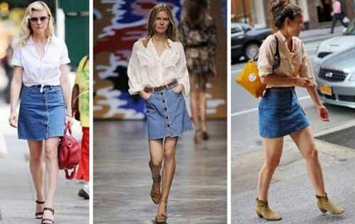 Tren Denim, Short-A-line-denim-skirt
