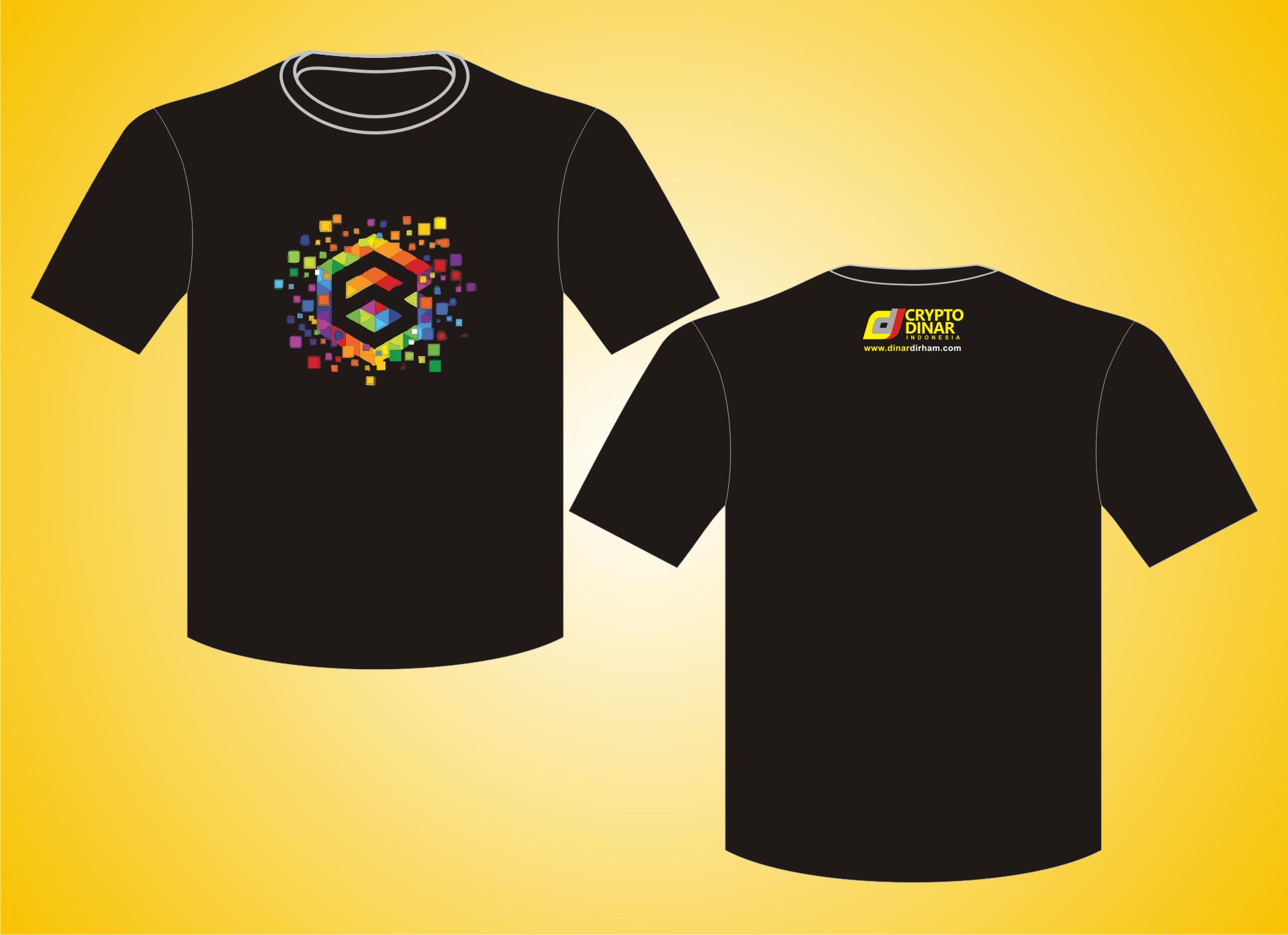 T-Shirt O-Neck Sablon Timbul