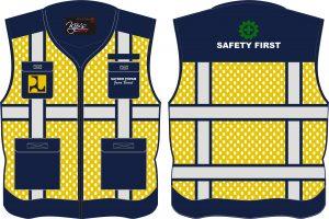 Seragam Rompi Safety Kanvas dan Jala, PU
