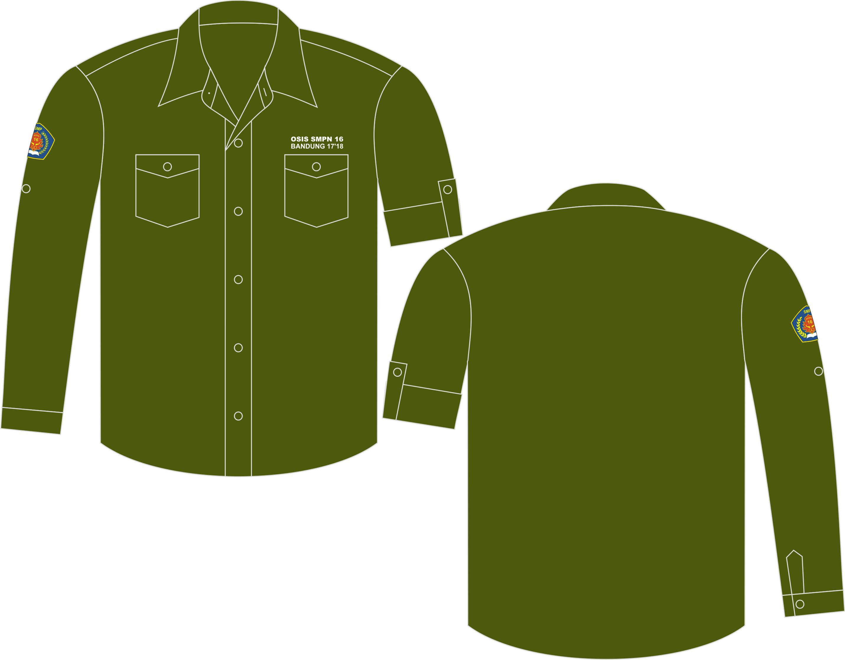 Seragam Kemeja PDL American Drill Army