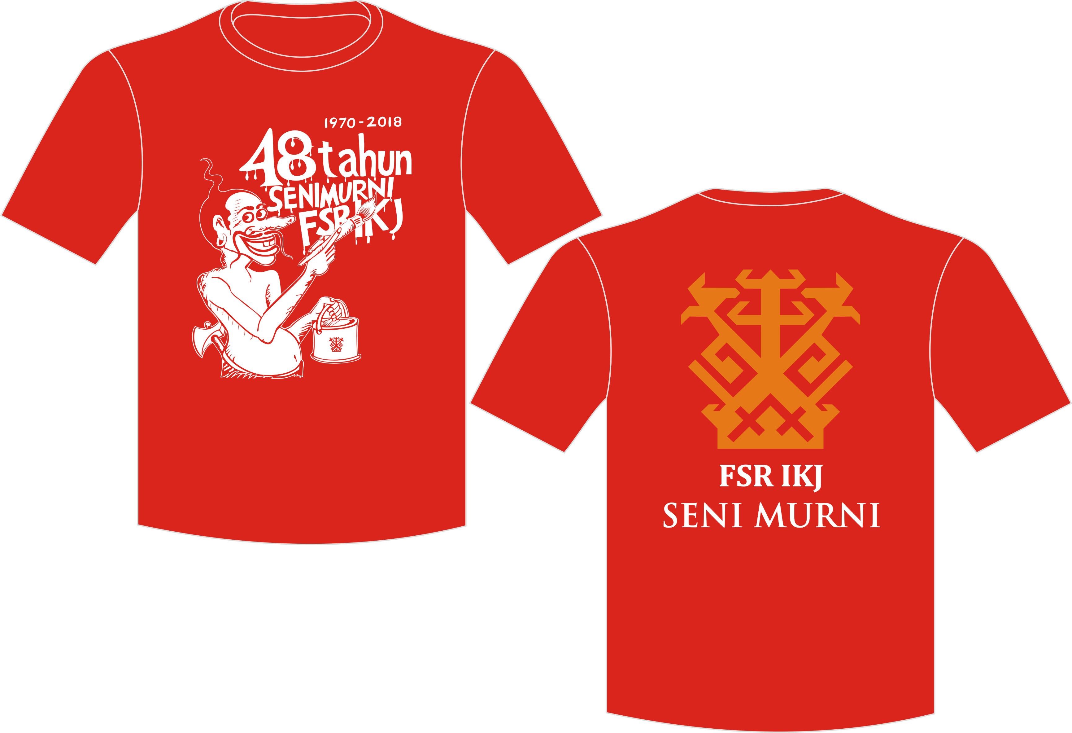 Kaos Oblong Merah