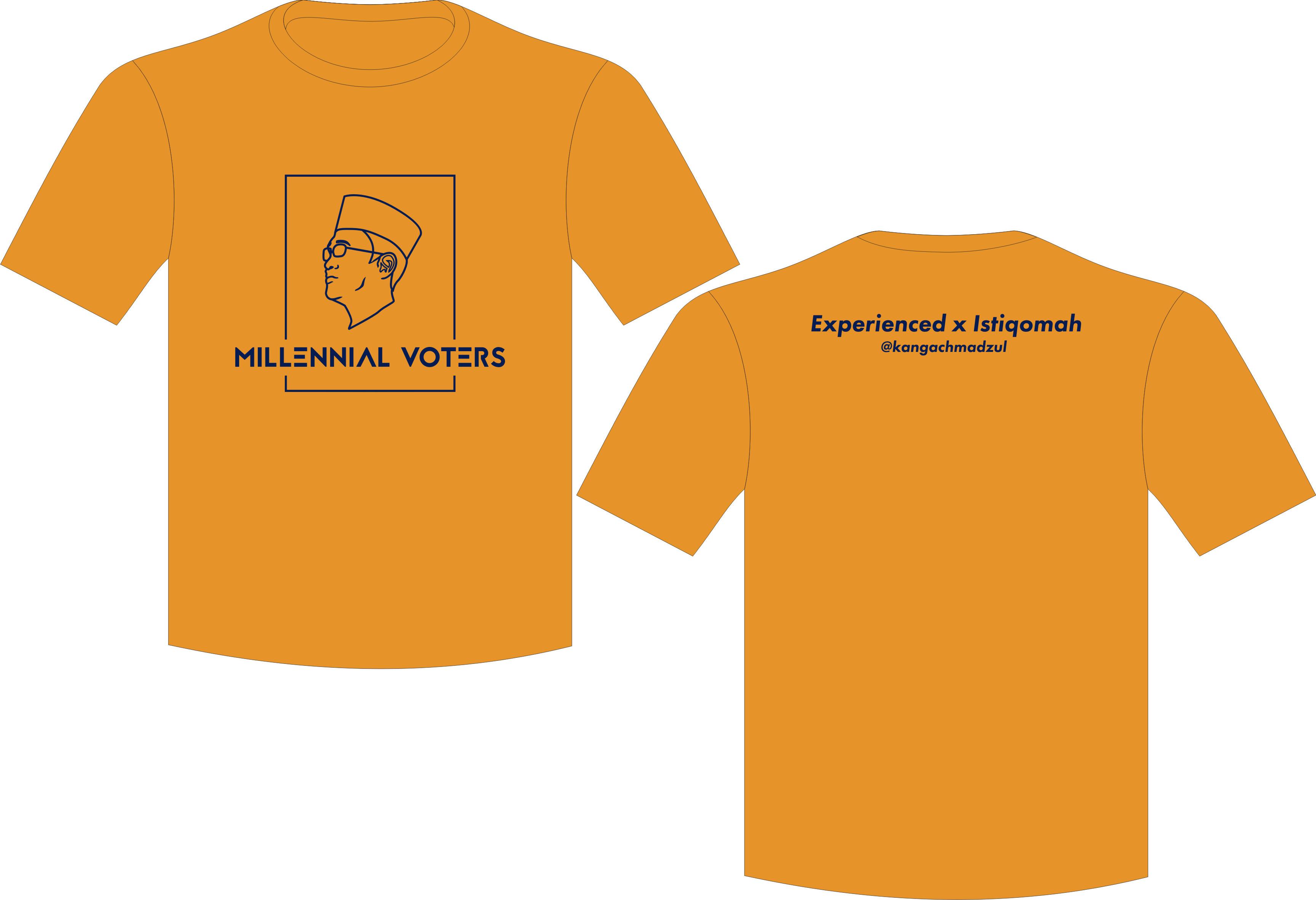 Seragam Kaos Millennial Votters