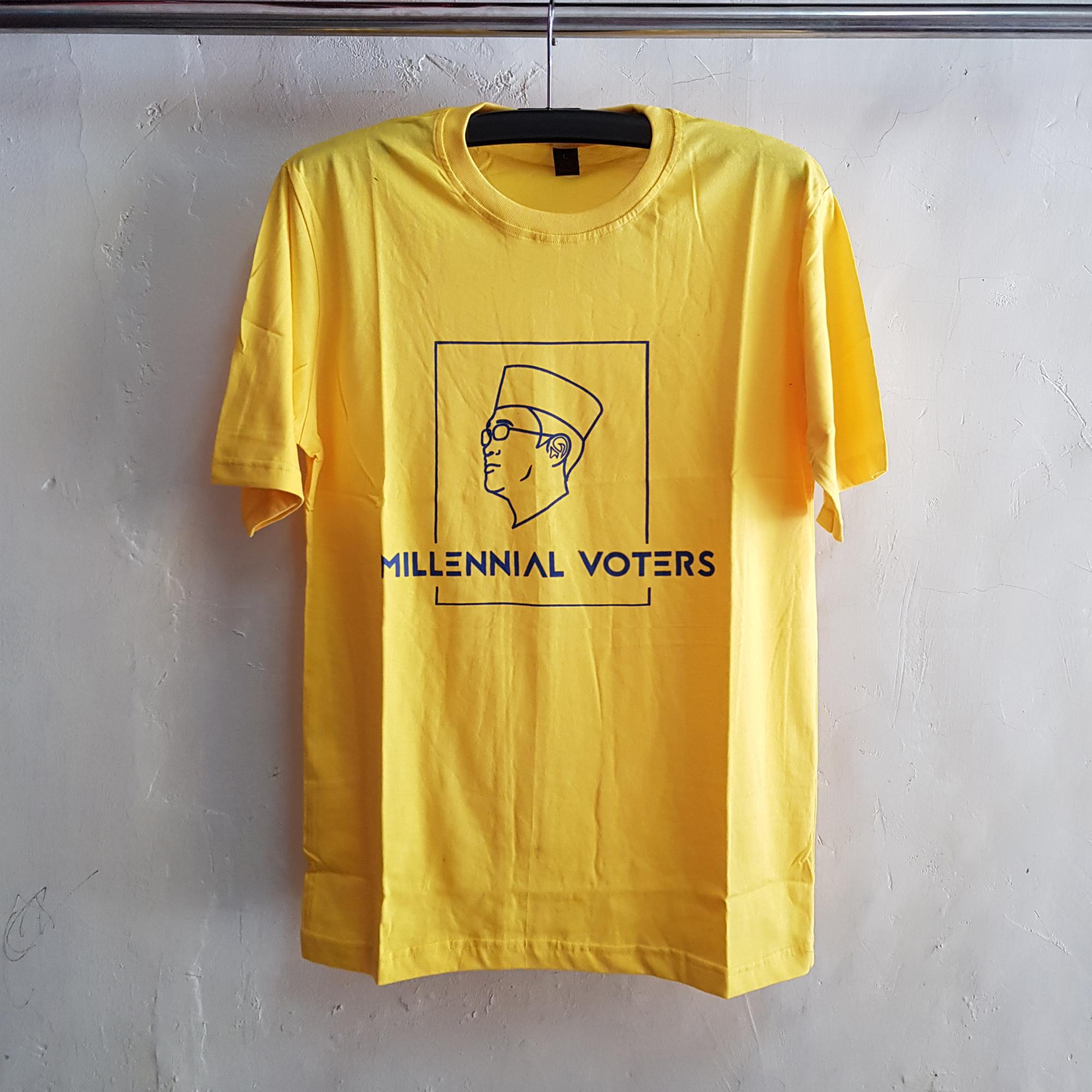 Seragam Kaos Millennial Votters, T-Shirt Oblong
