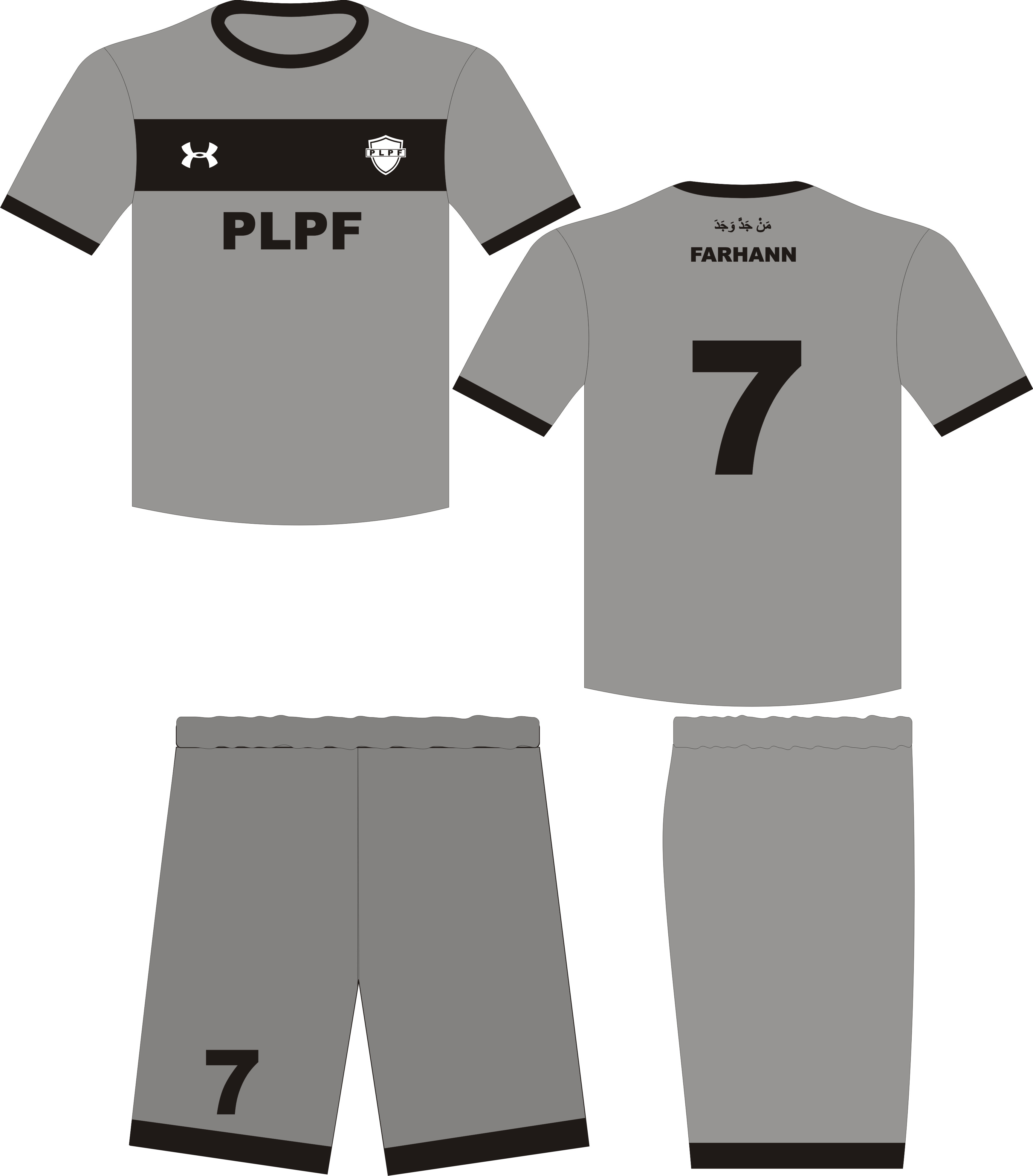 Kaos Jersey PLPF, Kostum Olah Raga