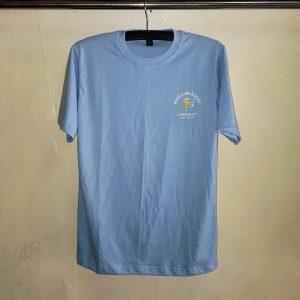 Kaos Oblong Baby Blue, Seragam Kaos Cotton