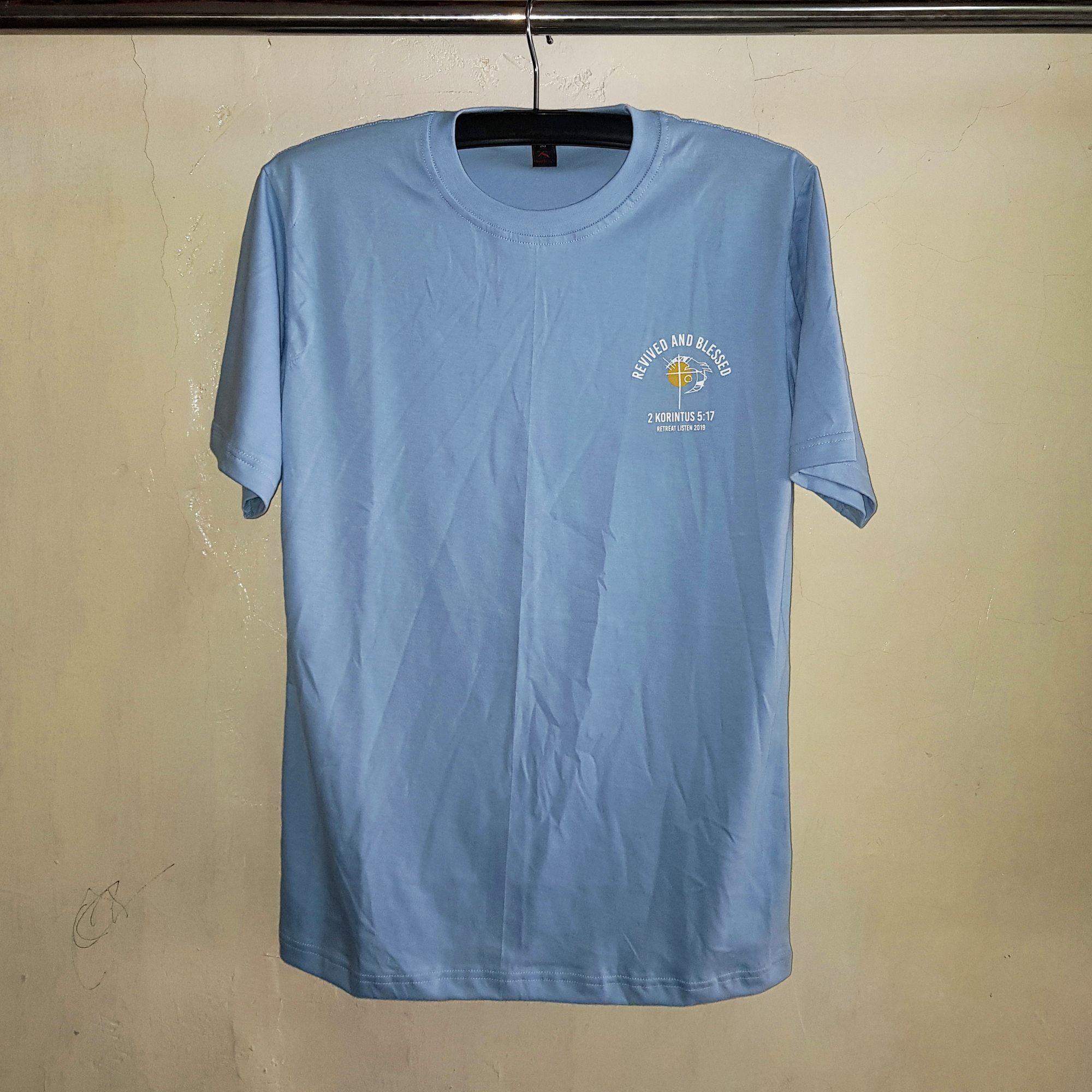 Kaos Oblong Baby Blue, Seragam Kaos Cotton