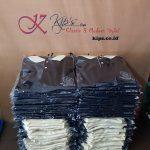 Kaos Kerah KBCR 2, Wangki Aplikasi Hitam-Krem