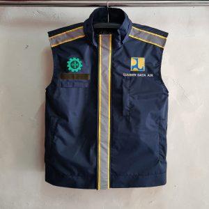 Rompi BBWS SDA Sulsel, Seragam Rompi Hoodie PUPR! Baju seragam (rompi/vest) bahan WP dan lapisan dalam dryfit serta resletting dan scotlite berkualitas.