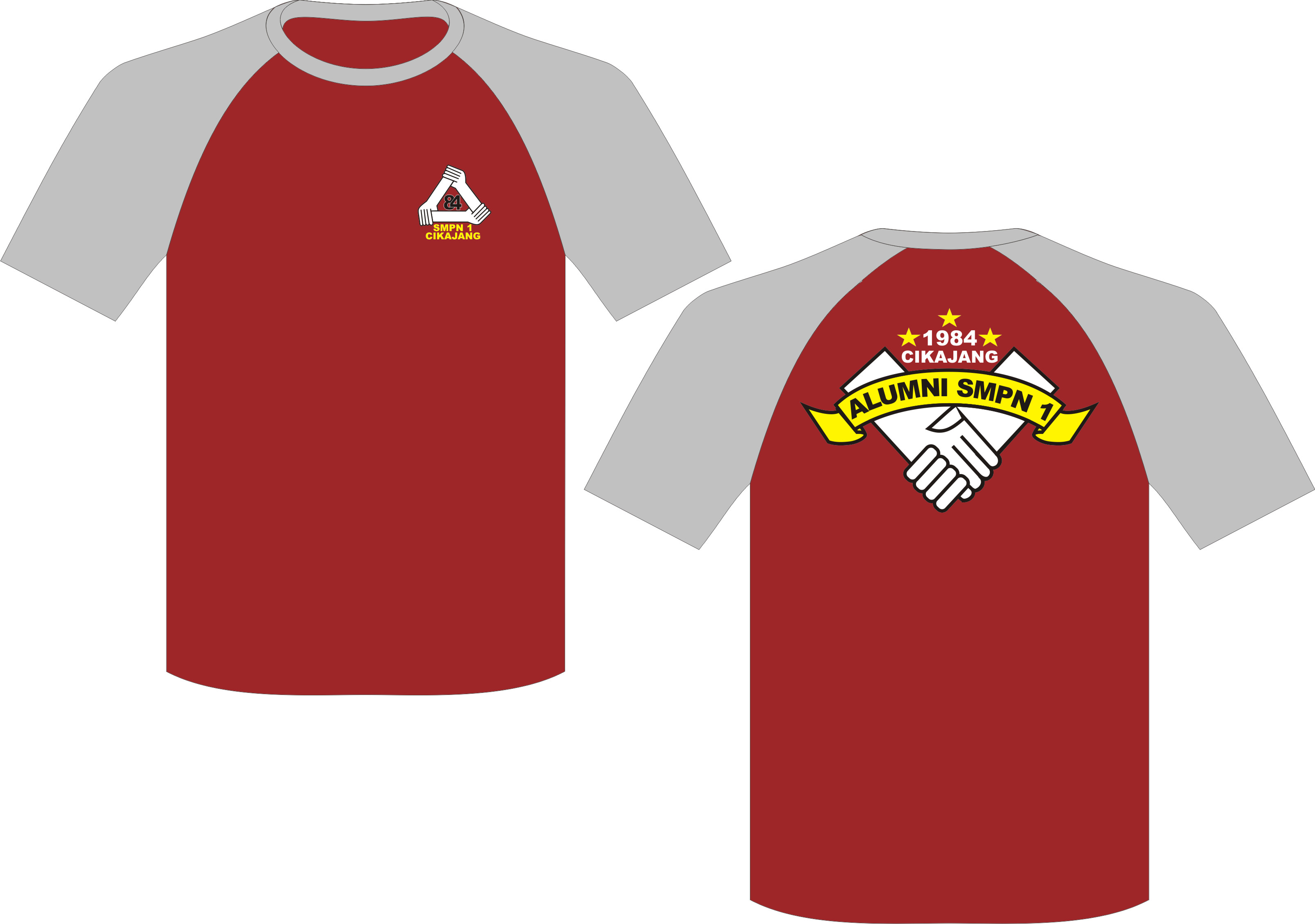Kaos Oblong Reuni, Seragam T-Shirt SMPN1 | Kip's Production